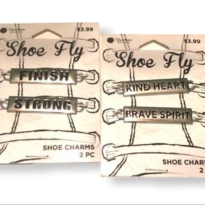 4/$25 Sale Shoe charms strong kind heart brave